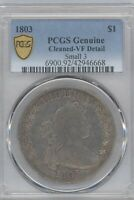 1803 BUST  DOLLAR, PCGS  VF DETAILS, CLEANED SMALL 3