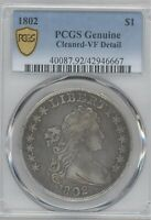 1802 BUST  DOLLAR, PCGS  VF DETAILS, CLEANED
