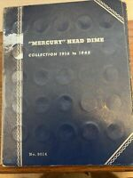 1916 1945 COMPLETE MERCURY SILVER DIME SET MISSING 1916 D IN