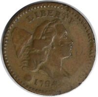 1794 HALF CENT VF HITS UNCERTIFIED 959