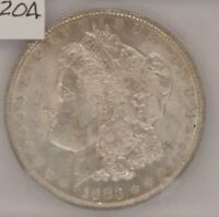 1883 O MORGAN SILVER DOLLAR, ICG MINT STATE 63, CHOICE UNCIRCULATED, CERTIFIED, C204