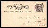 CA 1877 US POSTAL CARD   MIDDLEBURY VERMONT TO SUTHERLAND FALLS? VT D20