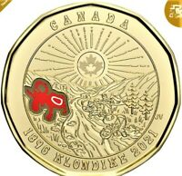 NEW CANADA $1 COLOR LOONIE KLONDIKE GOLD RUSH 125TH ANNIVERSARY