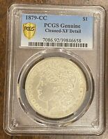 1879-CC MORGAN SILVER DOLLAR   PCGS GENUINE CLEANED - EXTRA FINE  DETAIL   CARSON CITY