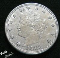 1883 NO CENTS LIBERTY HEAD 'V' NICKEL <> ABOUT UNCIRCULATED