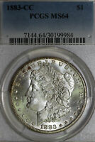 1883-CARSON CITY MORGAN 90 SILVER DOLLAR TONED PCGS GRADED MINT STATE 64 30199984