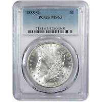 1888 O MORGAN DOLLAR MINT STATE 63 PCGS 90 SILVER $1 UNCIRCULATED US COIN COLLECTIBLE