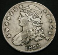 USA CAPPED BUST HALF DOLLAR 1832   SILVER   129