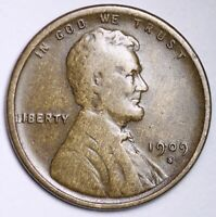 VF  1909 S LINCOLN WHEAT CENT PENNY