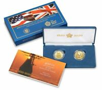 2020 MAYFLOWER 400TH ANNIVERSARY 2 COIN GOLD PROOF SET IN OR