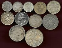 WORLD LOT OF 11 SILVER COINS