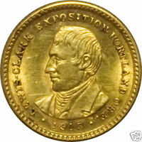 ANACS 1905 $1 GOLD LEWIS & CLARK MINT STATE 60 DET.  COIN