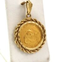 1988 10TH OUNCE CHINESE PANDA 999 24K GOLD COIN IN 14K GOLD FRAME CHARM PENDANT