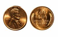 1958-D/D  LINCOLN CENT - RPM-001  CHOICE BU RED 128