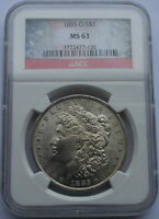 1885 O MORGAN SILVER DOLLAR VAM COIN MINT STATE 63 NGC LOT  SR 420