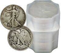 FULL DATES  ROLL OF 20 $10 FACE VALUE 90  SILVER WALKING LIBERTY HALF DOLLARS