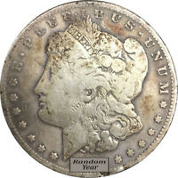 RANDOM YEAR $1 CULL MORGAN SILVER DOLLARS FULL DATE NO HOLES 1878 1904
