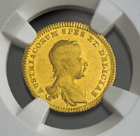 Click now to see the BUY IT NOW Price! 1741 MARIA THERESA. BIRTH OF ARCHDUKE JOSEPH. MEDALLIC GOLD  DUCAT. NGC MS 62