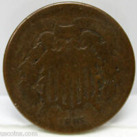 1865 P TWO CENT PIECE AG 01251799S