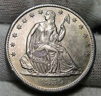 1859S SEATED LIBERTY HALF DOLLAR 50 CENTS   KEY DATE ONLY 566,000 MINTED 3284