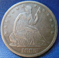 1883 SEATED LIBERTY HALF DOLLAR FINE VF KEY DATE US COIN LOW MINTAGE 9731