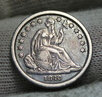 1840 SEATED LIBERTY DIME 10 CENTS.. KEY DATE ONLY 981,500 MINTED..  NICE 3455