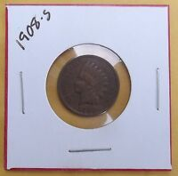 1908 S INDIAN HEAD ONE CENT COIN