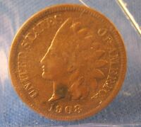 1908 S  INDIAN CENT  VF   KEY DATE!!