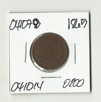 1865 TWO CENTS    041078