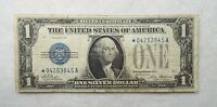 SERIES OF 1928STAR $1 BLUE SEAL SILVER CERTIFICATE NOTE FINE FR1600