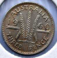 1960  AUSTRALIAN THREEPENCE A GREAT COLLECTORS ITEM,STOCK LIMITED,SAVE $$$S