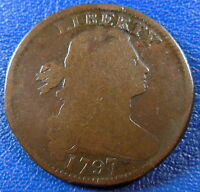 1797 DRAPED BUST LARGE CENT GOOD G ORIGINAL REV OF 1797 WITH STEMS 10766