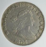 1806 CHOICE EF DRAPED BUST HALF DOLLAR  OLD SILVER ESTIMATED ONLY 300 REMAIN