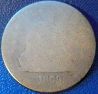 1869 S SEATED LIBERTY QUARTER ABOUT GOOD AG KEY DATE US COIN ORIGINAL 10071