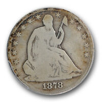 1878 CC LIBERTY SEATED HALF DOLLAR PCGS VG 8 GOOD KEY DATE 50C