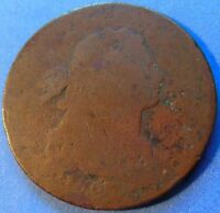 1797 LARGE CENT DRAPED BUST ABOUT GOOD AG TOUGH DATE 3863