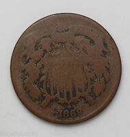 1869 P TWO CENT PIECE AG 01007150B