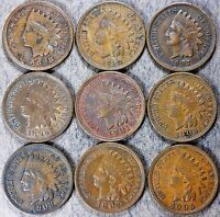 INDIAN HEAD CENT COLLECTION: 1898 1908! ALMOST UNCIRCULATED! 9 UNIQUE COINS C381