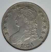 1831 MS CAPPED BUST HALF DOLLAR UNCIRCULATED  OLD SILVER $1/2 SHIPS FREE 423