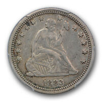 1883 LIBERTY SEATED QUARTER PCGS XF 40 EXTRA FINE KEY DATE LOW MINTAGE