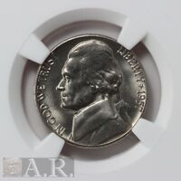 1957 D JEFFERSON NICKEL NGC MS66 5FS  GRADE