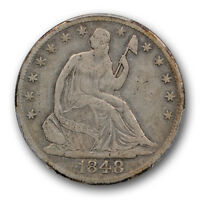 1848 O LIBERTY SEATED HALF DOLLAR PCGS VF 30 FINE CAC APPROVED