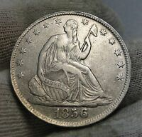 1856 O SEATED LIBERTY HALF DOLLAR 50 CENTS. NICE COIN   1867