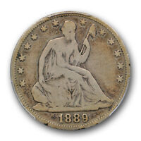 1889 LIBERTY SEATED HALF DOLLAR PCGS VG 8 GOOD KEY DATE LOW MINTAGE