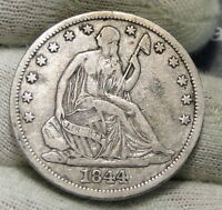 1844 O SEATED LIBERTY HALF DOLLAR 50 CENTS.  NICE OLD COIN  3969