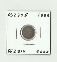 1888 CANADIAN FIVE CENTS SILVER    052305