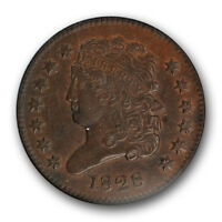 1828 CLASSIC HEAD HALF CENT 13 STARS NGC AU 55 BN ABOUT UNCIRCULATED TYPE COIN