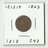 1865 INDIAN HEAD CENT -  121219