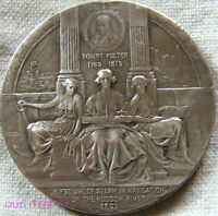MED1676   MEDAL DISCOVERY OF HUDSON RIVER 1909 SILVER
