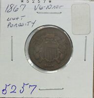1867 TWO CENT VG